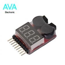 نمایشگر ولتاژ باتری مجهز به آلارم هشدار