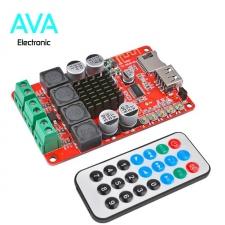 ماژول آمپلی فایر 50×2 وات استریو مبتنی بر تراشه TPA3116 با گیرنده بلوتوثی و ریموت کنترلر