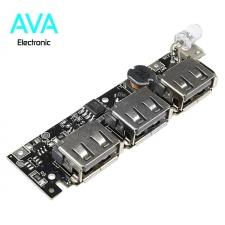 برد شارژ و دشارژ باتری لیتیومی 3A دارای 3 خروجی USB (برد پاور بانک)