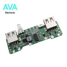 ماژول شارژر و دشارژر باتری لیتیومی دارای دو خروجی 5V 1A / 2A USB (برد پاور بانک)