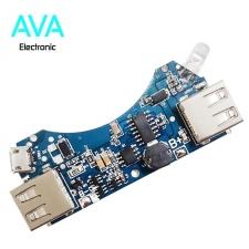 ماژول شارژ و دشارژ باتری لیتیومی ۲A با دو خروجی USB (برد پاور بانک)