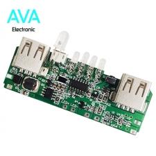 برد پاور بانک 5v 2A با دو خروجی USB و نشانگر در صد شارژ (ماژول شارژ و دشارژ)