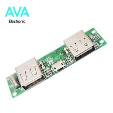 برد شارژ و دشارژ باتری لیتیومی 5v 2A دارای دو خروجی USB (برد پاور بانک)