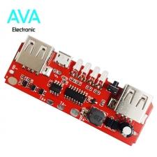 ماژول شارژ و دشارژ باتری لیتیومی ۲A با دو خروجی USB و نشانگر LED