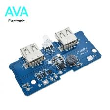 برد شارژ و دشارژ باتری لیتیومی 2A دارای 2 خروجی USB (برد پاور بانک)