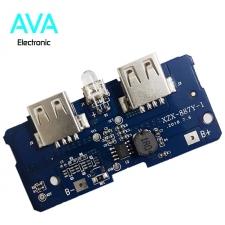 برد پاور بانک 5v 2.1A با دوخروجی USB (ماژول شارژ و دشارژ)