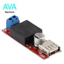 ماژول کاهنده، با ولتاژ متغییر 7 الی 24 ولت در ورودی و ولتاژ ثابت 5v خروجی USB