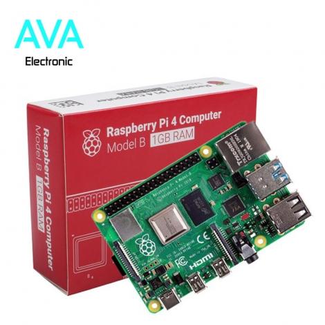 برد رزبری پای Raspberry Pi 4 مدل B با رم ۱GB ساخت UK