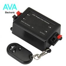 دیمر 12 تا 24 ولت DC به همراه ریموت،مناسب کنترل شدت نور نوار LED