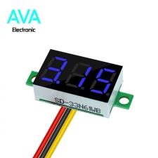ماژول ولتمتر دیجیتال 0 تا 100 ولت DC سه سیمه 0.36 اینچ آبی رنگ