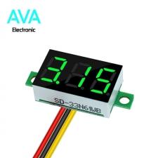 ماژول ولتمتر دیجیتال 0 تا 100 ولت DC سه سیمه 0.36 اینچ سبز رنگ