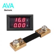 آمپرمتر ولتمتر DC روپنلی 100 آمپر 0 تا 100 ولت به همراه شنت